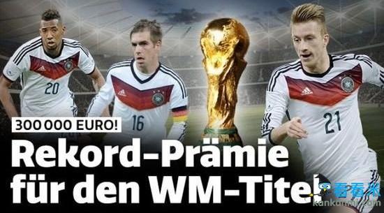 国际足联公布世界杯奖金达5.6亿 夺冠球队将获4000万