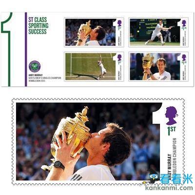 穆雷温网夺冠登上邮票 英邮局将发售纪念套票