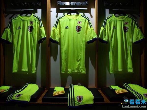 日本公布巴西世界杯客场球衣 荧光绿仿巴萨更像训练衫