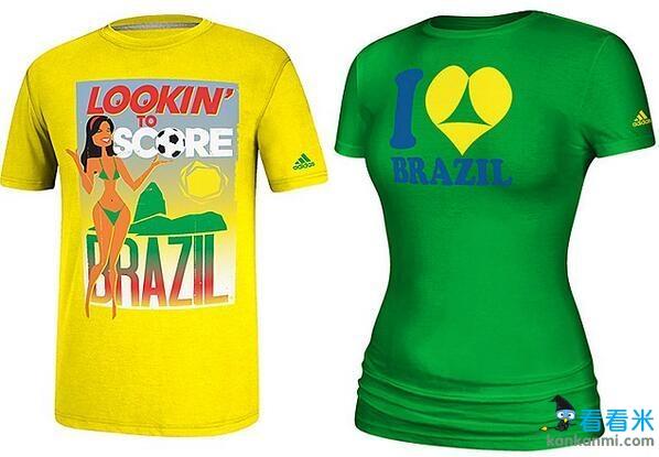新款世界杯T恤惊现性暗示图案 巴西行竟变