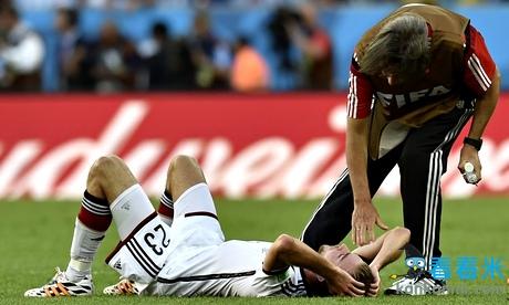 世界杯情报:德国中场克拉默遭受失忆 已不记得比赛过程