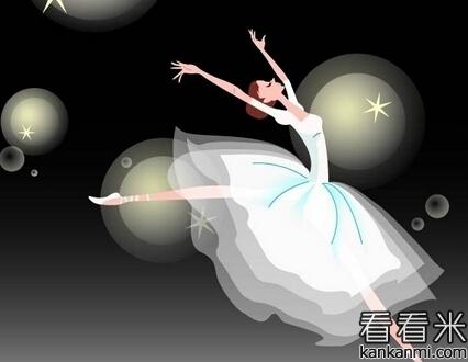 自习室里跳舞的女孩