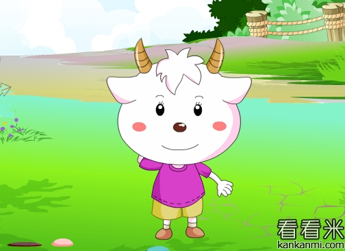 小公鸡理也不理小羊,一个劲地低着头找虫子.