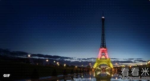 埃菲尔铁塔将展示欧洲杯参赛国国旗颜色