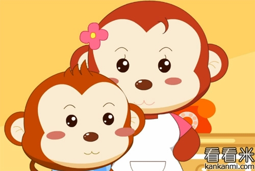这天,猴妈妈让小猴子去洗澡,因为小猴子是在太脏了,小猴子伸出手来图片