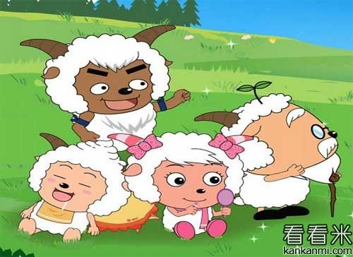 喜羊羊和小羊们摘苹果