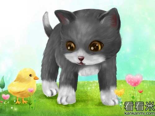 壁纸 动漫 动物 卡通 漫画 猫 猫咪 头像 小猫 桌面 500_375