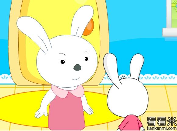 元旦去拜年的小白兔