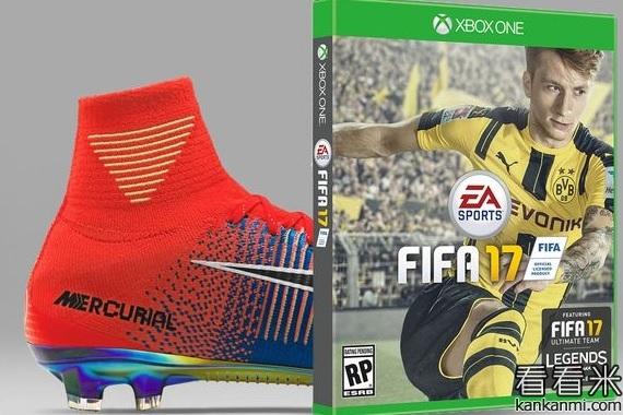 耐克配合FIFA17推出限量款球鞋 纪念20余年FIFA时光