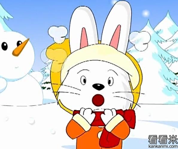 不怕冷的大衣就是小白兔身上那件白毛衣服,动物们都不用穿衣服