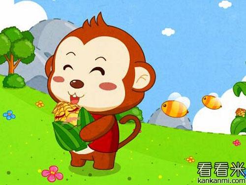 猴子和小刺猬摘果子的故事图片