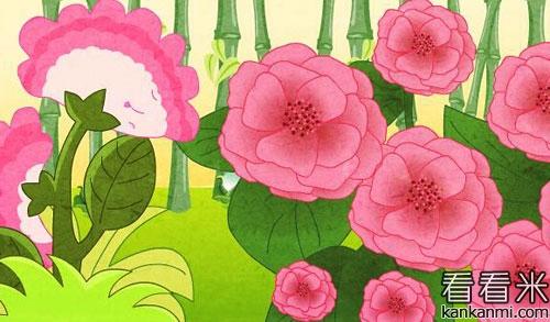 月季花与玫瑰花的友谊