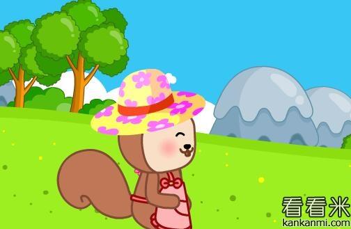 松鼠阿姨的漂亮花帽子