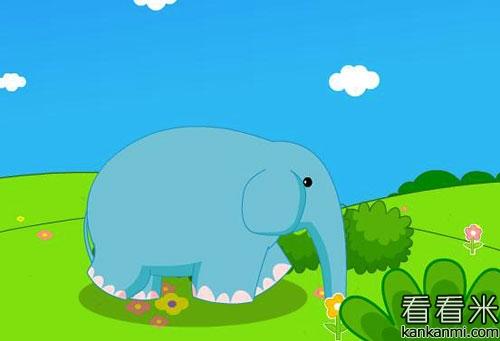 帮花狗奶奶挑水的小象