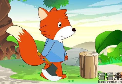 来到村子里的蓝狐狸