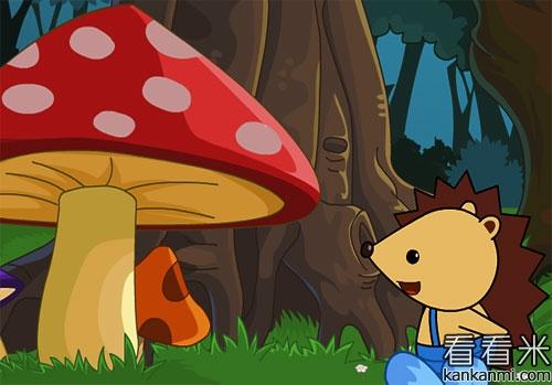 小刺猬勇战笨笨熊的故事
