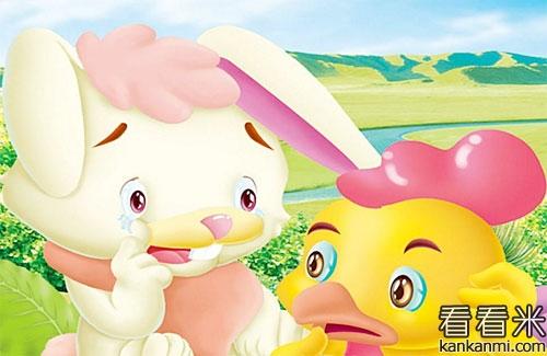 两只小兔子种萝卜的故事