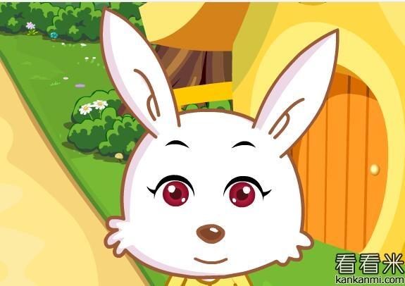小兔子帮小浣熊分豆子