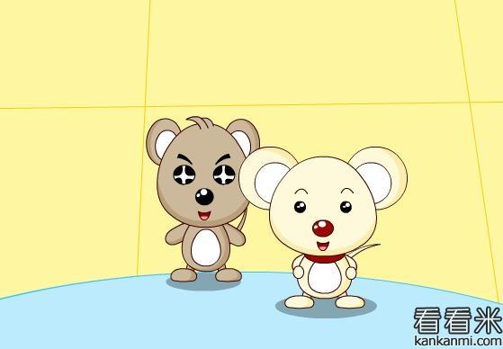灰老鼠和白老鼠过河的故事