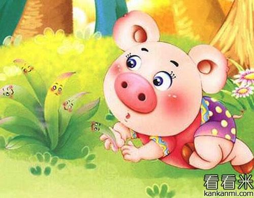 童话故事:哼哼猪的雨伞