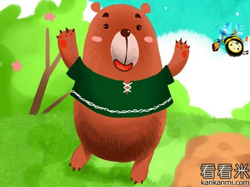 小熊看电视的故事