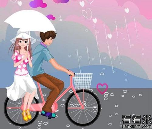 校园小故事《自行车上的单恋》
