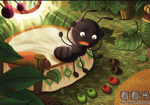 雨天里的小蚂蚁的故事