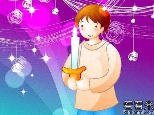 孩子和烛炬的故事
